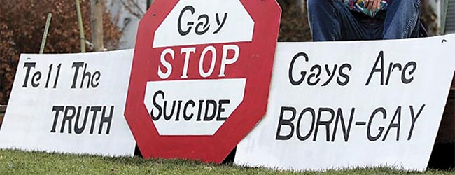 Photo of Springville Gay Signs Draw Fire from School