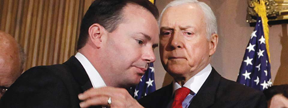 Photo of Hatch, Lee vote against gay-inclusive violence bill