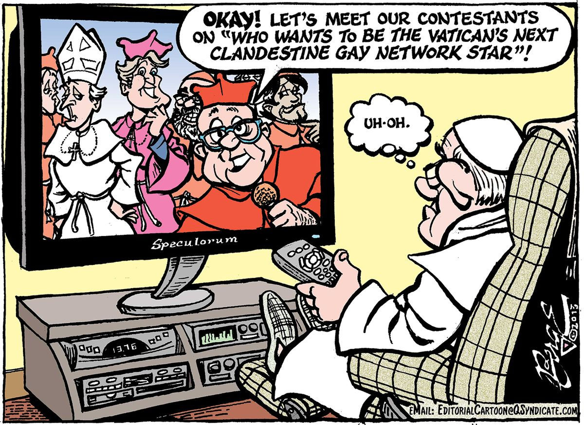 Photo of Editorial Cartoon – Vatican's Gay Lobby