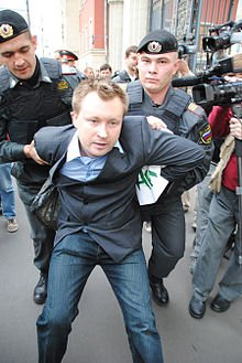 Photo of Russian activist's apartment raided