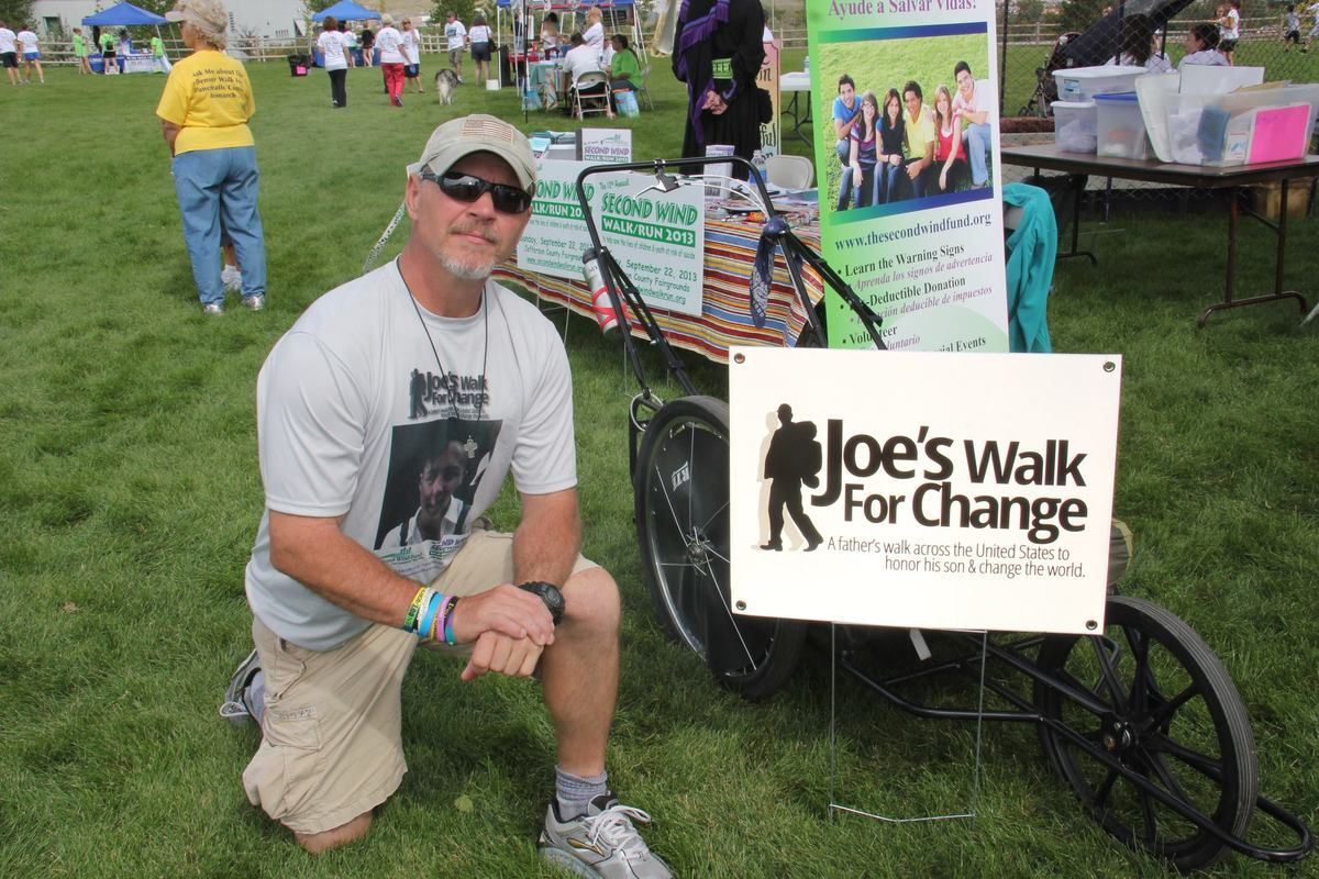 Photo of 'Joe's Walk for Change,' Joe Bell killed by semi in Colo.