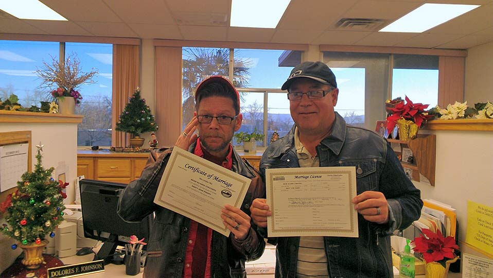 Photo of Two St. George same-sex couples wed