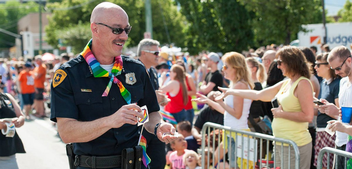 Photo of LGBT ally Salt Lake City Police Chief Burbank forced from office