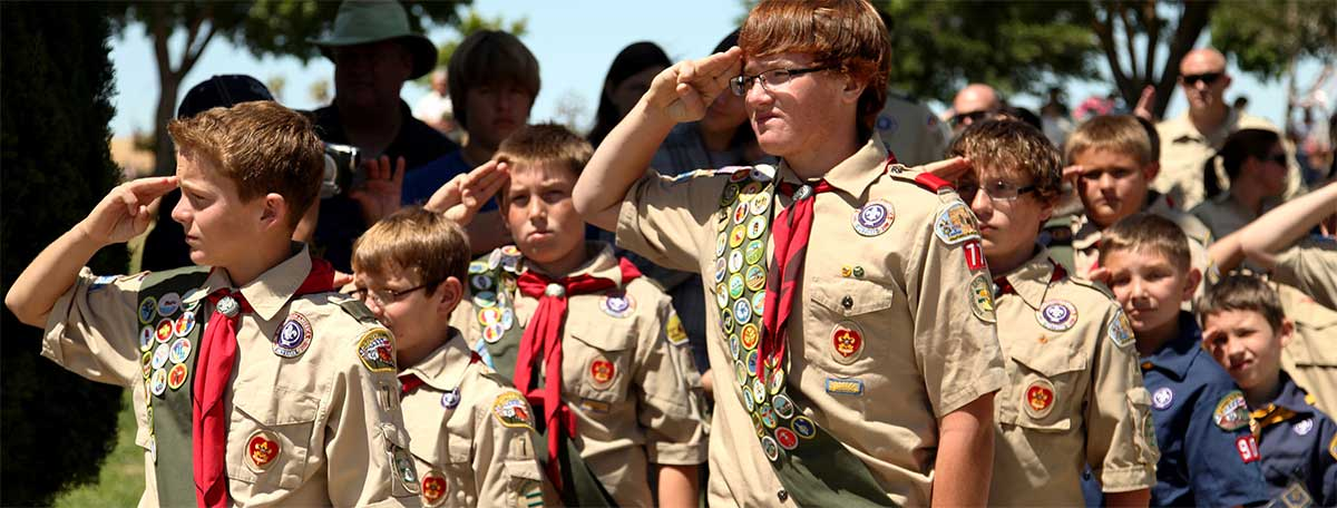 Photo of Inclusive Boy Scout troop now taking girls