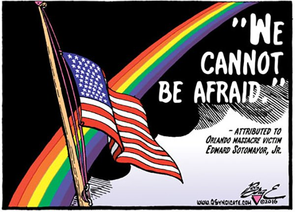 Photo of Cartoon – Cannot Be Afraid (For Orlando)