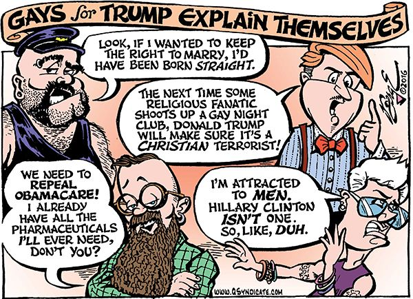 Photo of Cartoon – Gays for Trump Explain Themselves