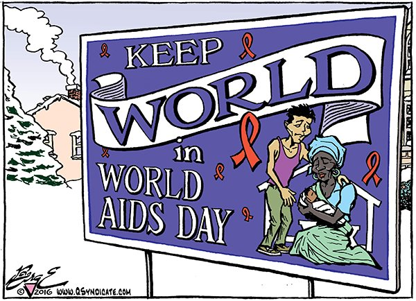 Photo of Cartoon – World AIDS Day