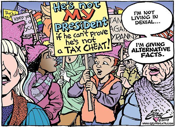 Photo of Cartoon – Not Her President