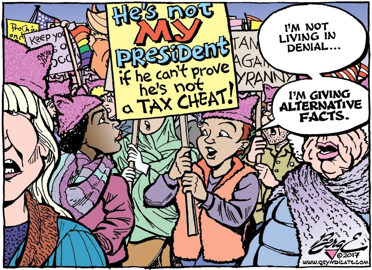 Photo of Editorial Cartoon – Alternative facts