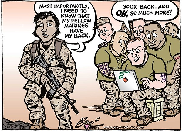 Photo of Cartoon – Corps Values
