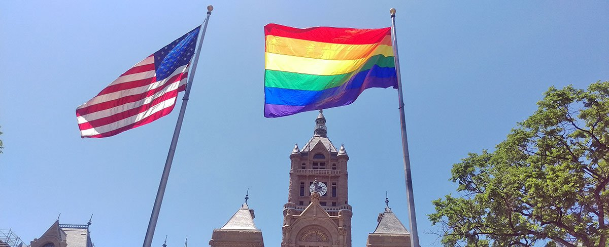 Photo of Video: Rainbow flag raised to half-mast to kick off Utah Pride Festival