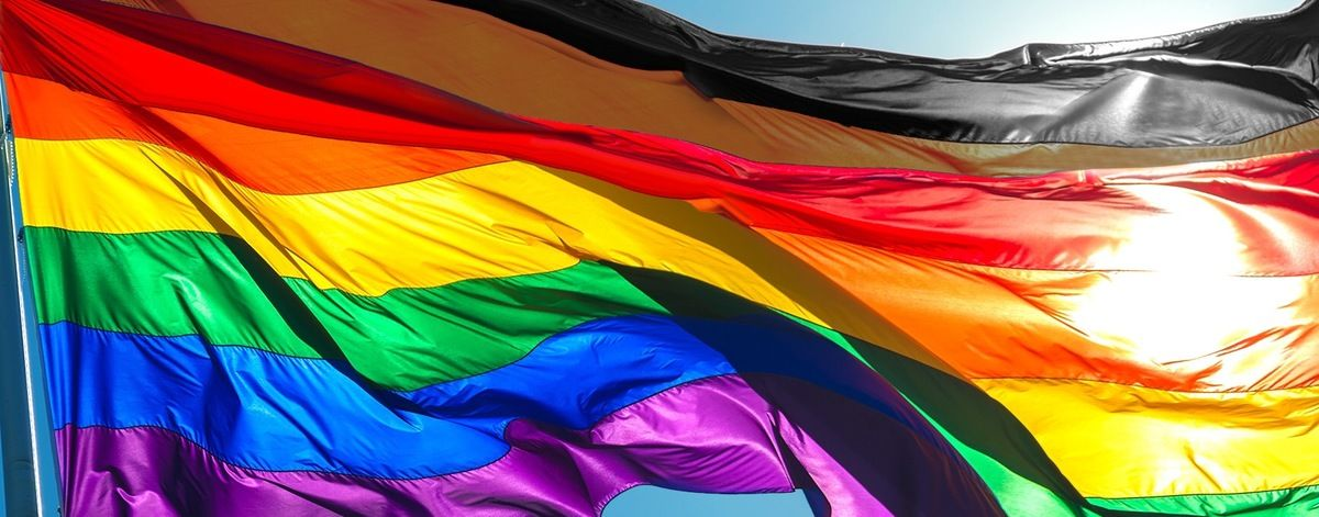 Photo of Gay icon Gilbert Baker predicted refueled flag wars?