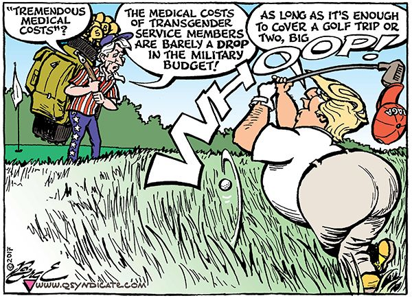 Photo of Cartoon – Playing an Uphill Lie