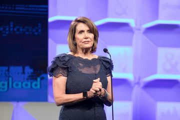Photo of Nancy Pelosi makes surprise appearance at 2017 GLAAD Gala; speaks against Trans ban