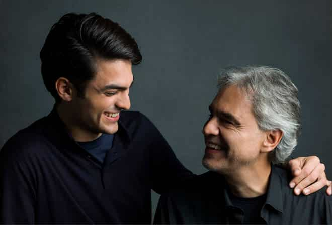 Photo of Video: Andrea Bocelli and son's first duet; see Andrea in SLC this November