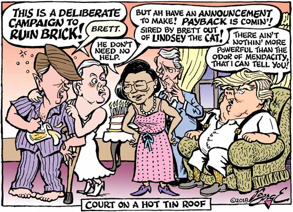 Photo of Cartoon – Court on a Hot Tin Roof
