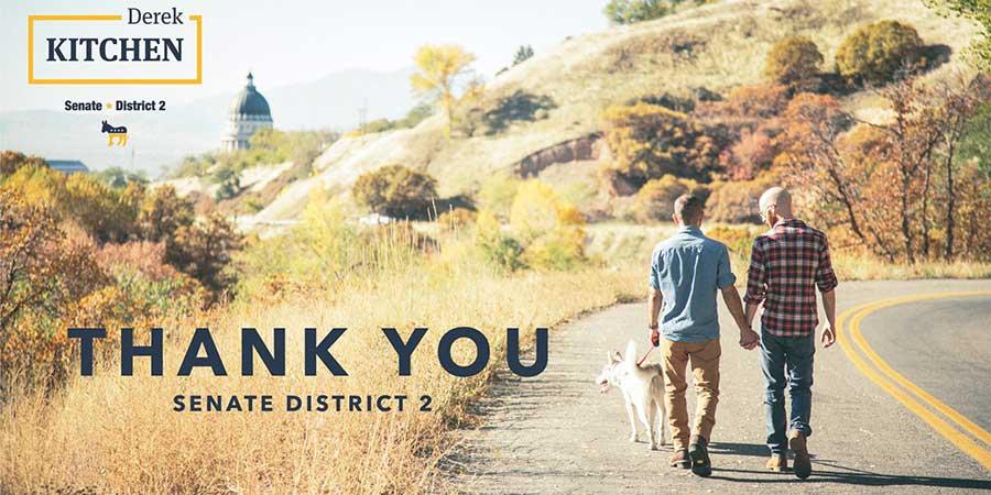 Photo of Derek Kitchen handily wins state senate seat
