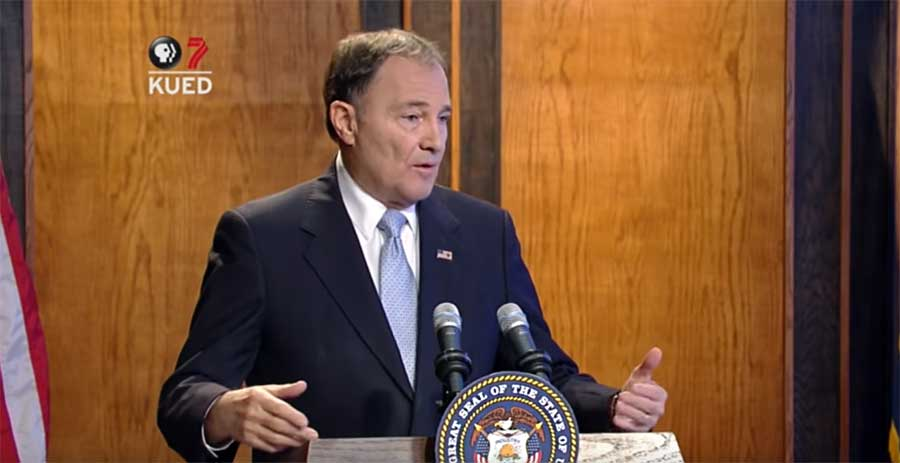 Photo of Gov. Herbert talks LGBTQ inclusion in Utah hate crime law, transgender birth certificate changes