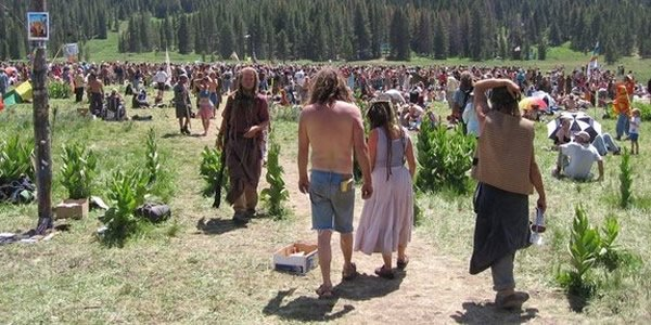 Photo of Faeries at the Rainbow Gathering