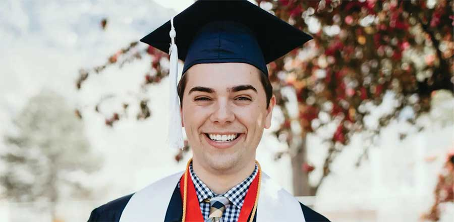Photo of BYU valedictorian in graduation speech: 'I am proud to be a gay son of God'