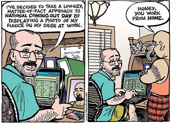 Photo of Cartoon – Take Your Boyfriend to Work Day