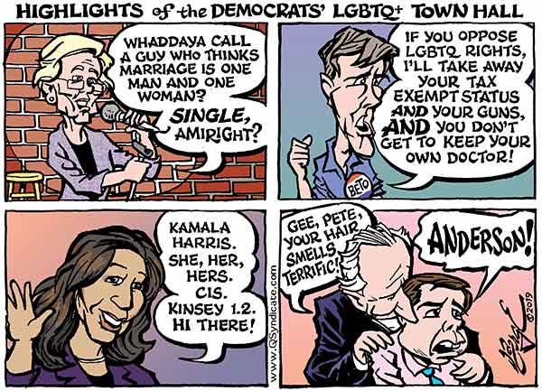Photo of Cartoon – Town Hall Highlights