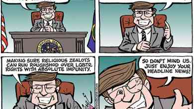 Photo of Cartoon – Meanwhile…