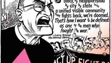 Photo of Cartoon – Larry Kramer