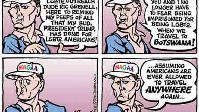 Photo of Cartoon – Trump's LGBTQ Outreach