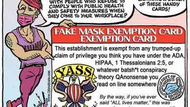 Photo of Cartoon – Exemption Card